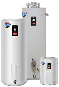the Bradford water heaters family